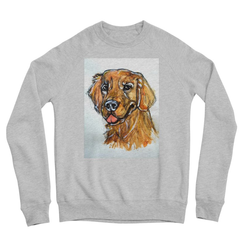Golden Retriever Women's Sponge Fleece Sweatshirt by AlmaT's Artist Shop