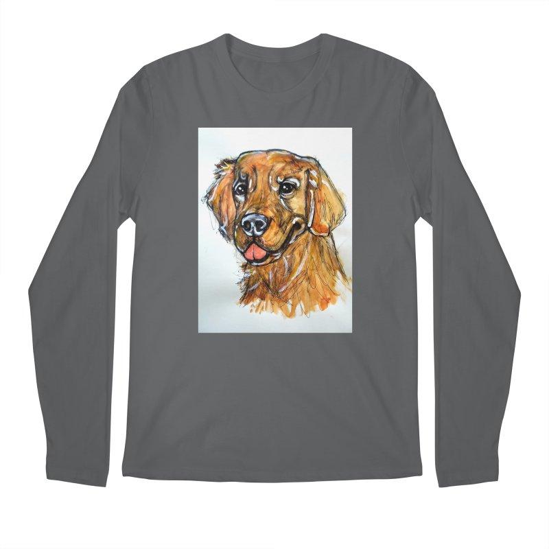 Golden Retriever Men's Longsleeve T-Shirt by AlmaT's Artist Shop