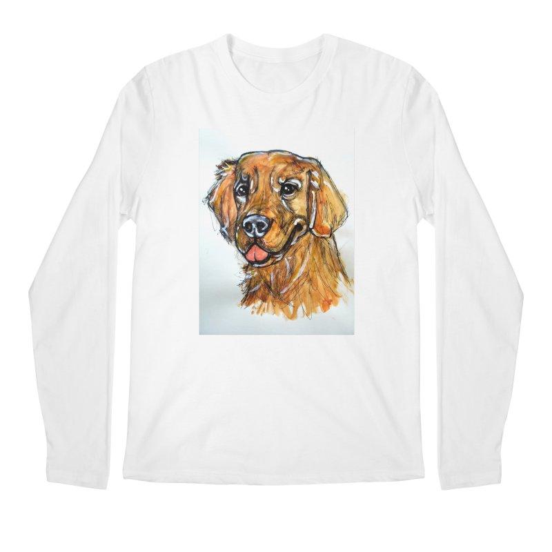 Golden Retriever Men's Regular Longsleeve T-Shirt by AlmaT's Artist Shop