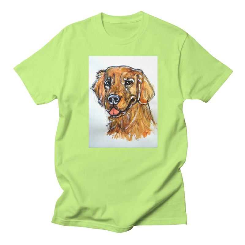 Golden Retriever Women's Regular Unisex T-Shirt by AlmaT's Artist Shop