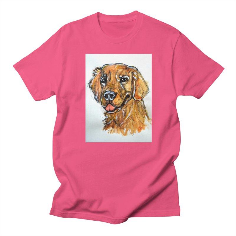 Golden Retriever Men's Regular T-Shirt by AlmaT's Artist Shop