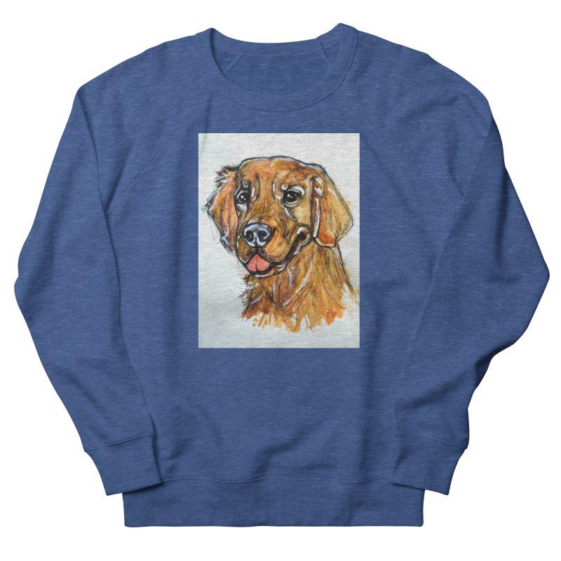 Golden Retriever Women's French Terry Sweatshirt by AlmaT's Artist Shop