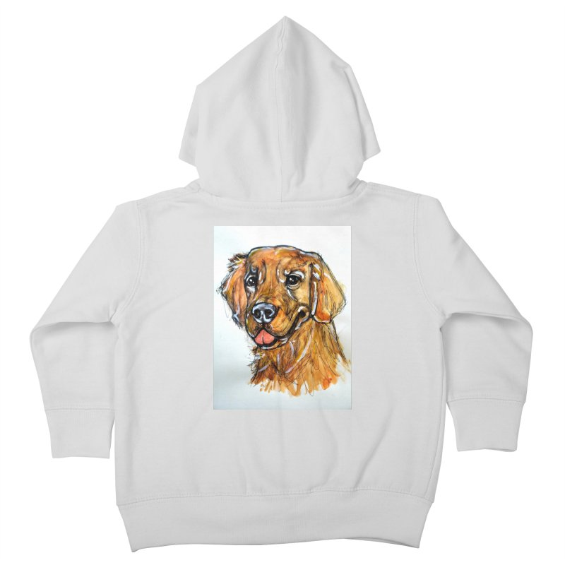 Golden Retriever Kids Toddler Zip-Up Hoody by AlmaT's Artist Shop