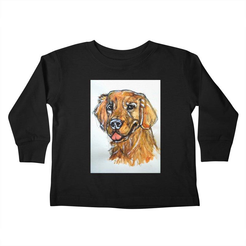 Golden Retriever Kids Toddler Longsleeve T-Shirt by AlmaT's Artist Shop