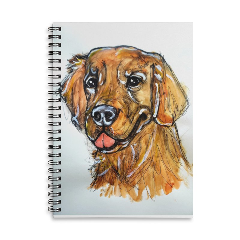 Golden Retriever Accessories Notebook by AlmaT's Artist Shop