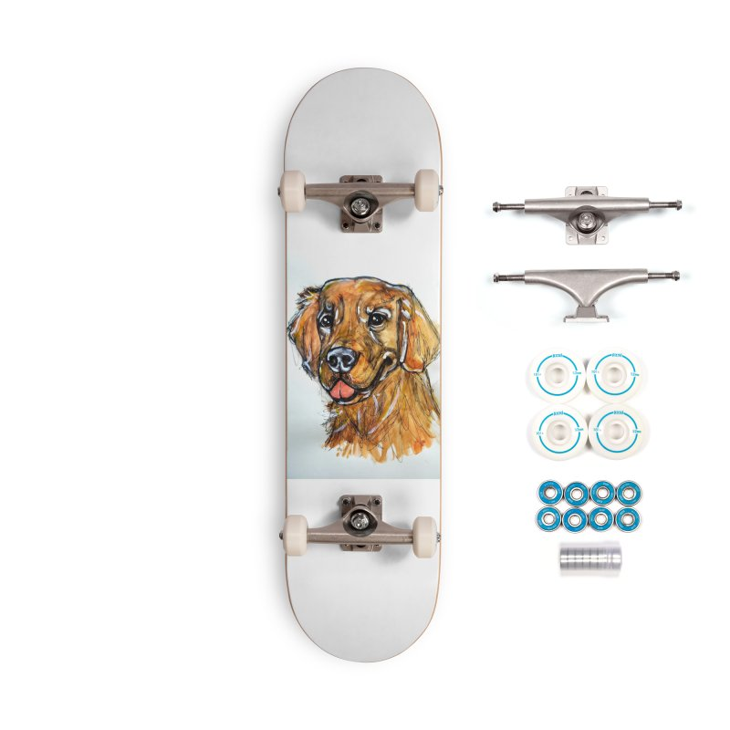 Golden Retriever Accessories Skateboard by AlmaT's Artist Shop