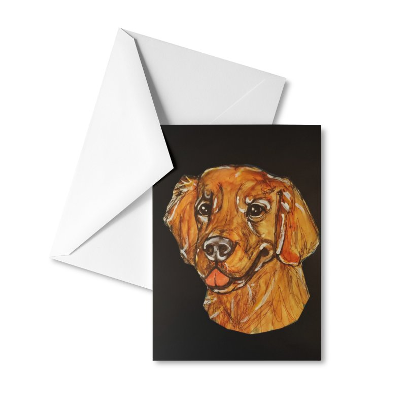 Golden Retriever 2 Accessories Greeting Card by AlmaT's Artist Shop