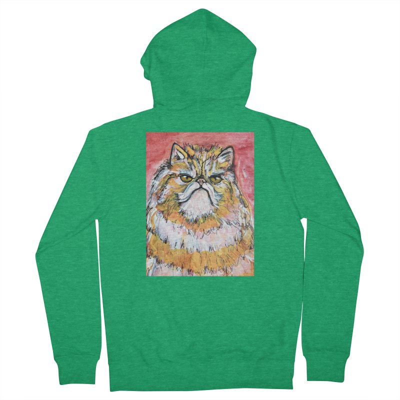 Grumpy Cat Men's Zip-Up Hoody by AlmaT's Artist Shop