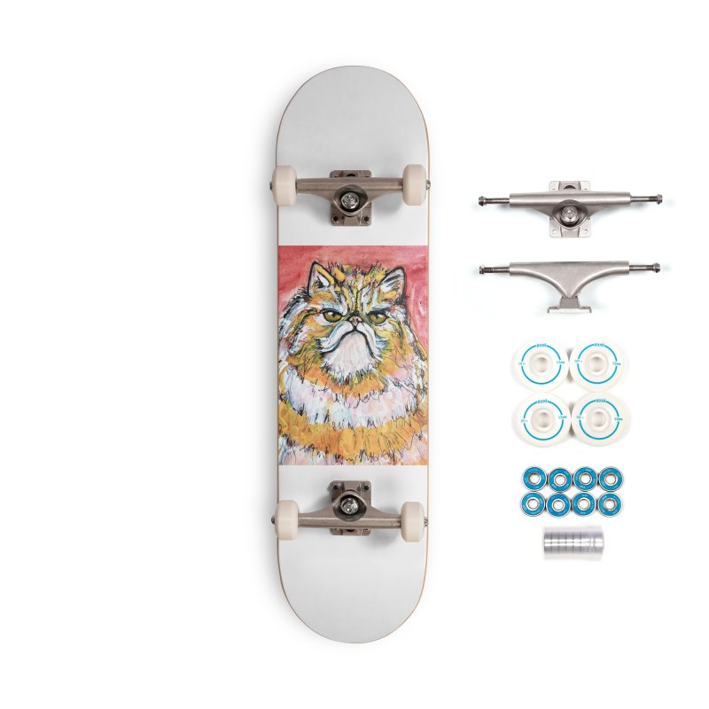 Grumpy Cat Accessories Skateboard by AlmaT's Artist Shop