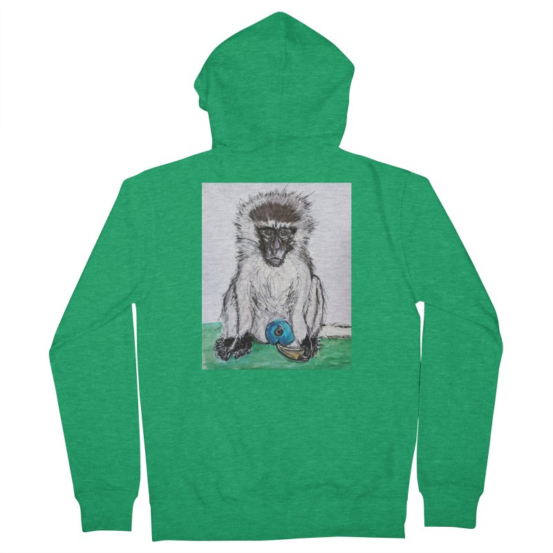 Vervet Monkey Men's Zip-Up Hoody by AlmaT's Artist Shop