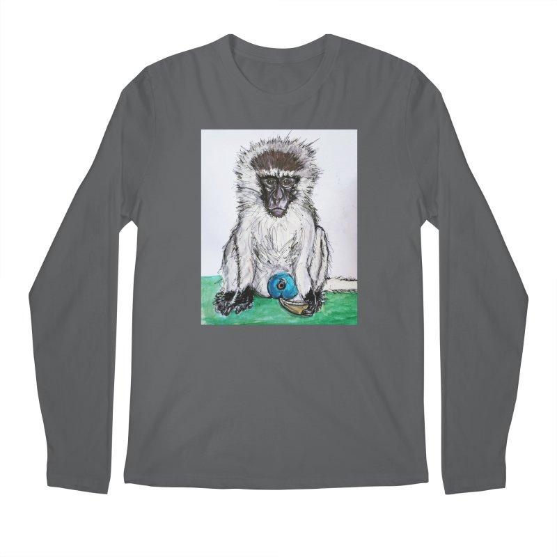 Vervet Monkey Men's Longsleeve T-Shirt by AlmaT's Artist Shop