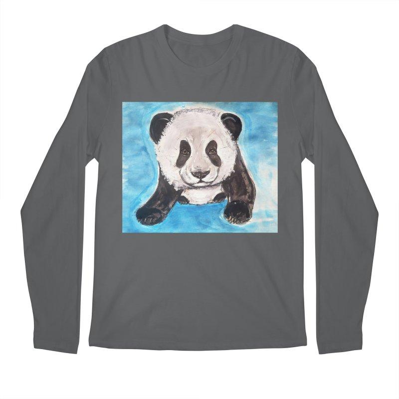 Baby Panda Men's Longsleeve T-Shirt by AlmaT's Artist Shop