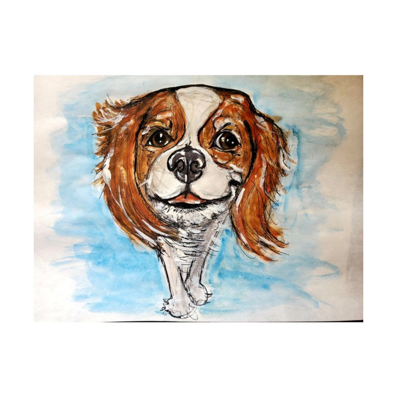 Cavalier King Charles Spaniel Accessories Greeting Card by AlmaT's Artist Shop