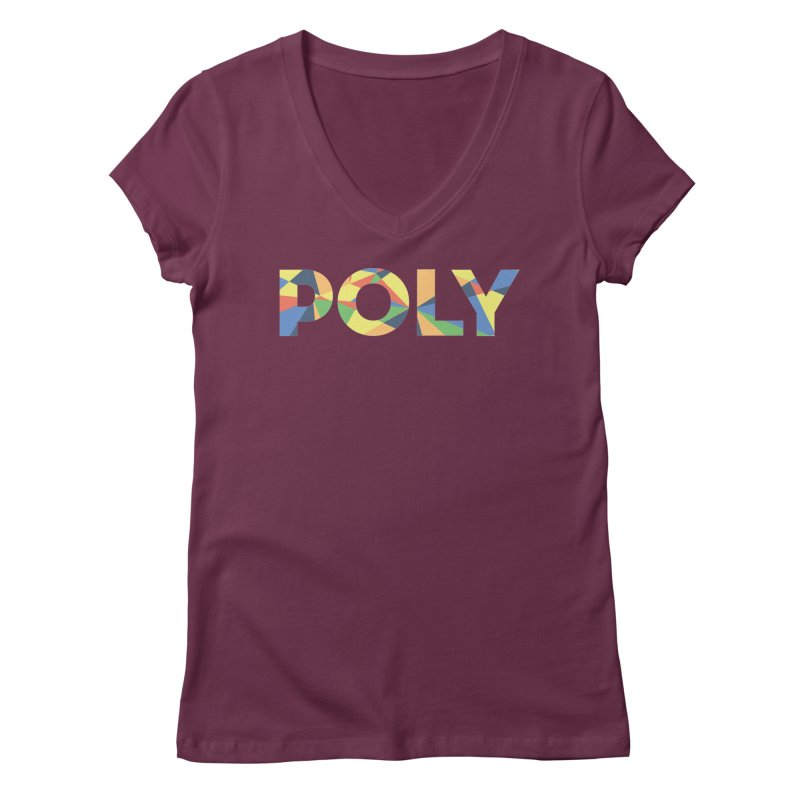 POLY PRIDE Women's V-Neck by AltStyle's Artist Shop