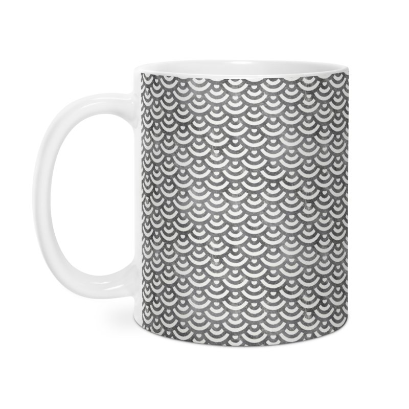 Black and White Mermaid Pattern (Pastel)  Accessories Mug by Alvestegui's Artist Shop