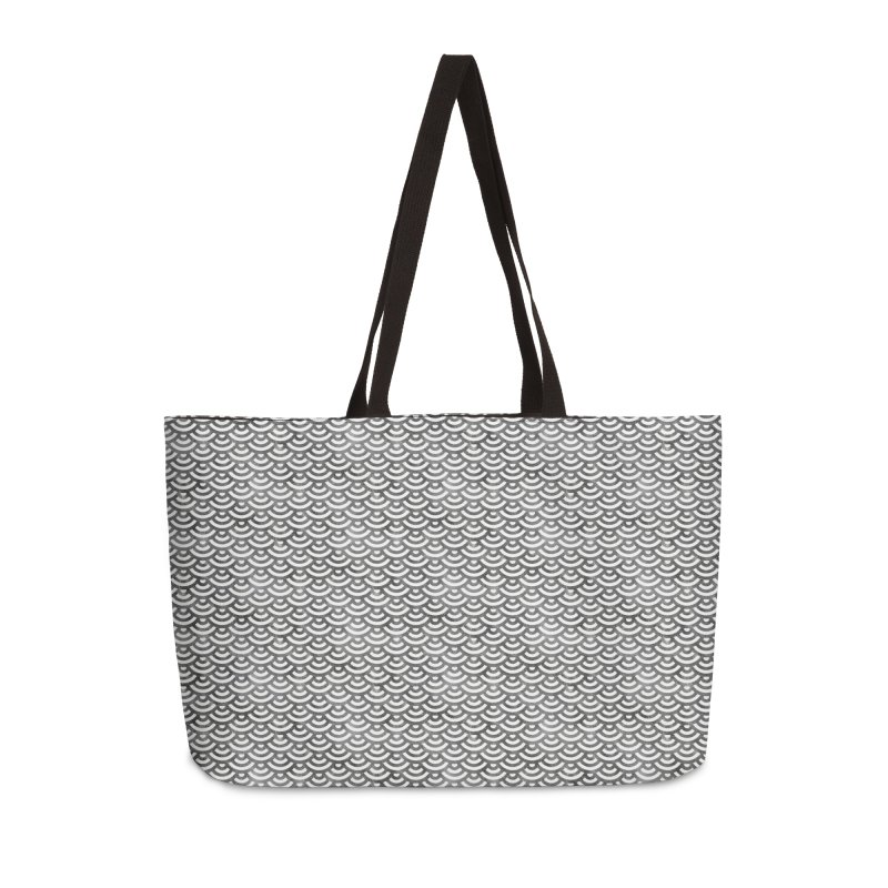 Black and White Mermaid Pattern (Pastel)  in Weekender Bag by Alvestegui's Artist Shop