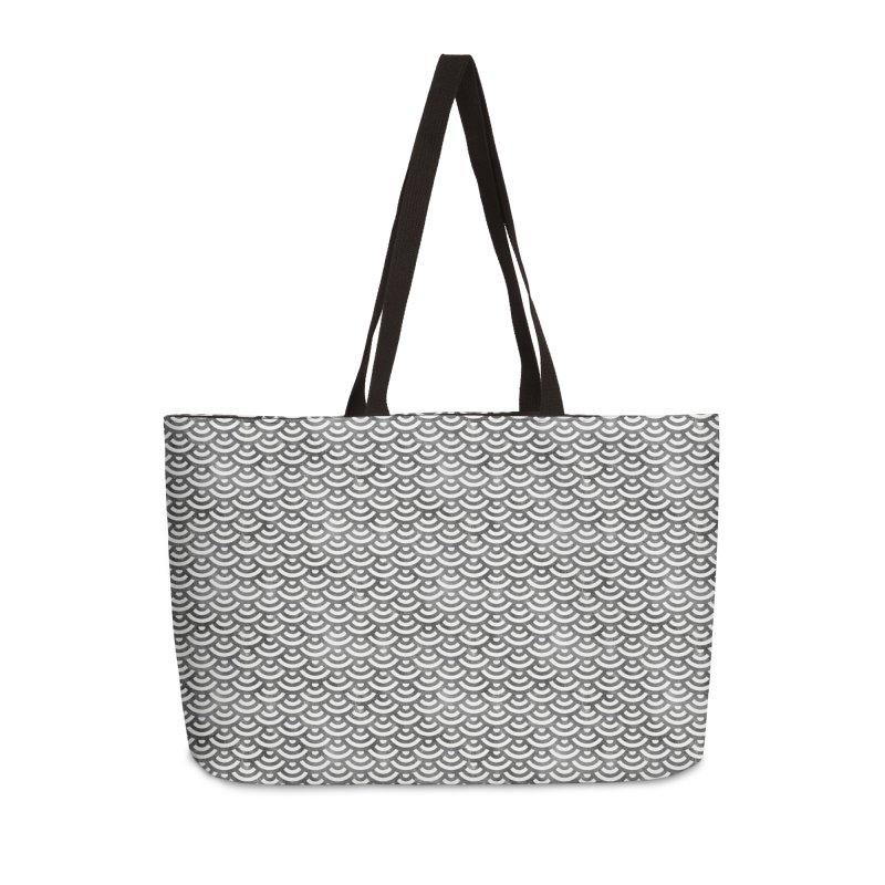 Black and White Mermaid Pattern (Pastel)  in Weekender Bag by Alvestegui's Artist Shop
