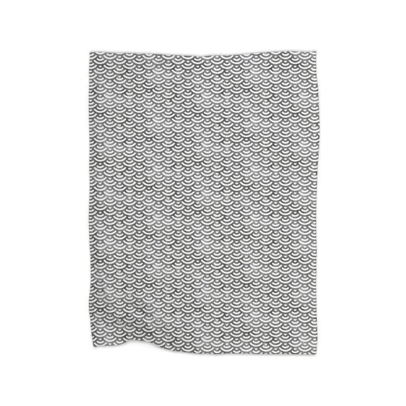 Black and White Mermaid Pattern (Pastel)  Home Blanket by Alvestegui's Artist Shop