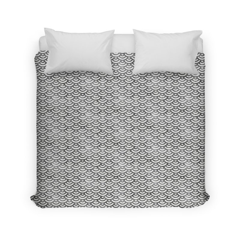 Black and White Mermaid Pattern (Pastel)  Home Duvet by Alvestegui's Artist Shop