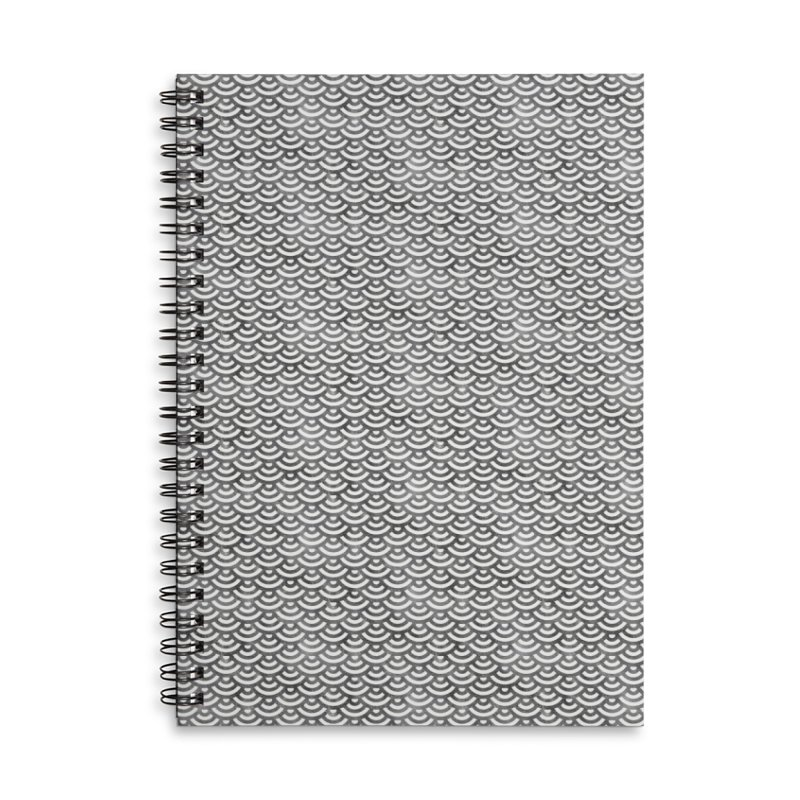 Black and White Mermaid Pattern (Pastel)  in Lined Spiral Notebook by Alvestegui's Artist Shop