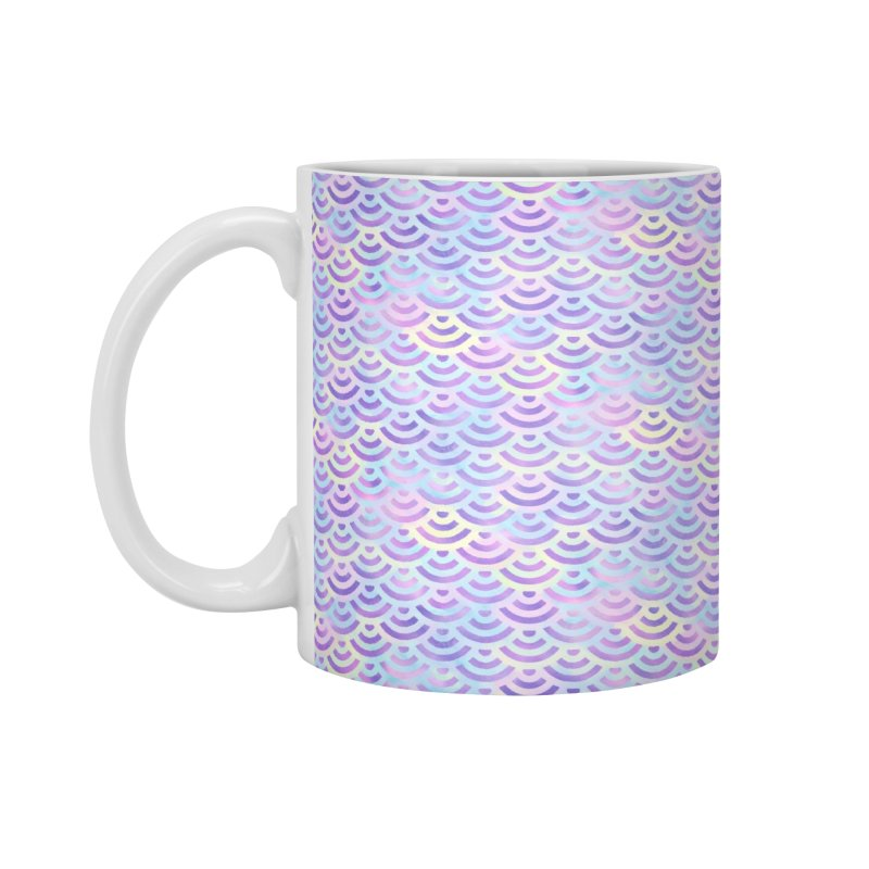 Purple Rainbow Mermaid Pattern (Pastel)  in Standard Mug White by Alvestegui's Artist Shop