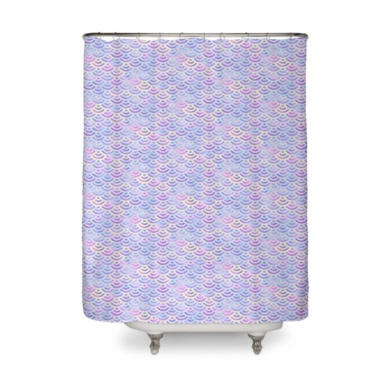 Purple Rainbow Mermaid Pattern (Pastel)  Home Shower Curtain by Alvestegui's Artist Shop