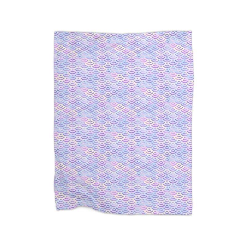 Purple Rainbow Mermaid Pattern (Pastel)  Home Blanket by Alvestegui's Artist Shop