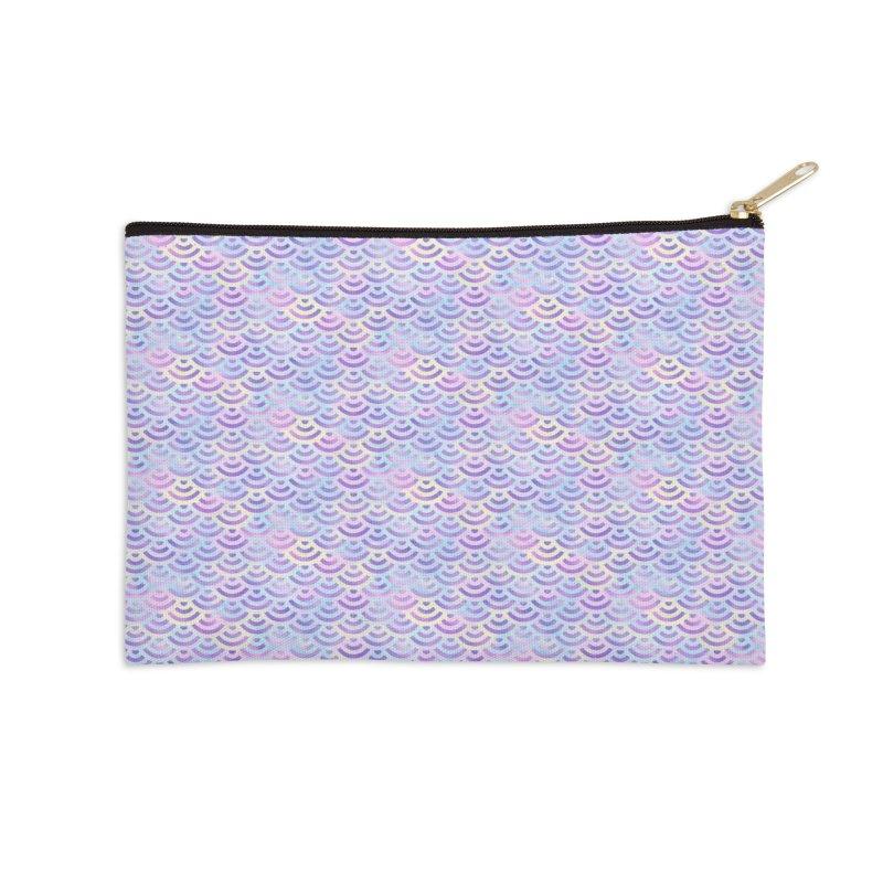 Purple Rainbow Mermaid Pattern (Pastel)  Accessories Zip Pouch by Alvestegui's Artist Shop