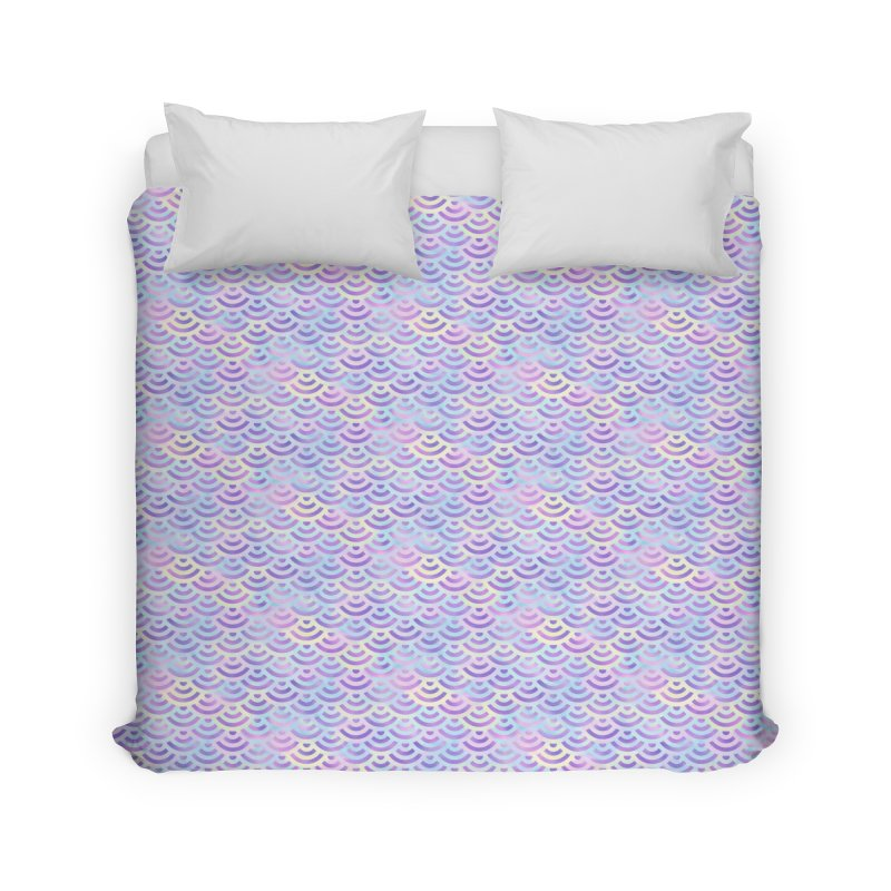 Purple Rainbow Mermaid Pattern (Pastel)  Home Duvet by Alvestegui's Artist Shop