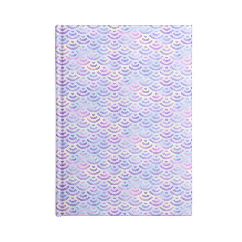 Purple Rainbow Mermaid Pattern (Pastel)  Accessories Notebook by Alvestegui's Artist Shop
