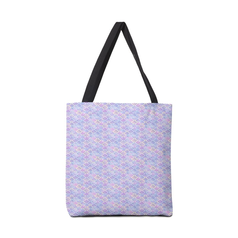 Purple Rainbow Mermaid Pattern (Pastel)  Accessories Bag by Alvestegui's Artist Shop