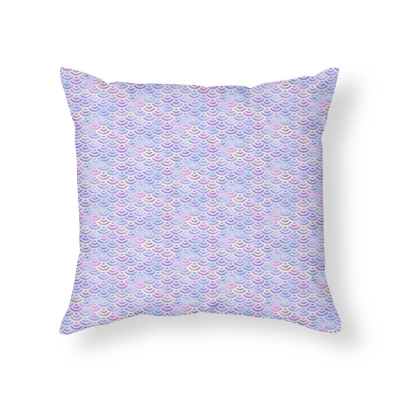 Purple Rainbow Mermaid Pattern (Pastel)  Home Throw Pillow by Alvestegui's Artist Shop