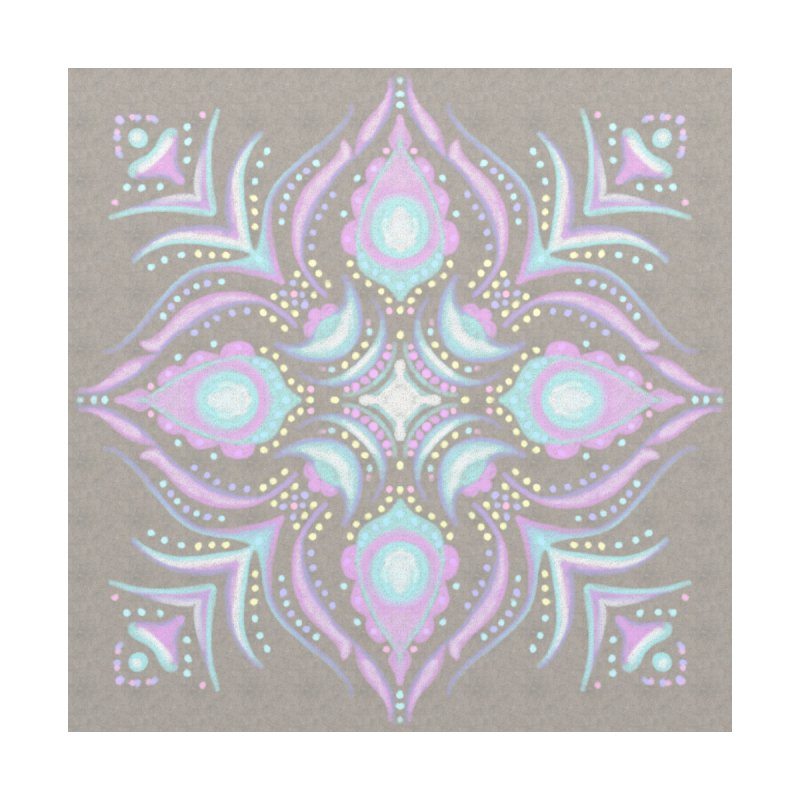 Street Mandala (Pastel)  Home Shower Curtain by Alvestegui's Artist Shop