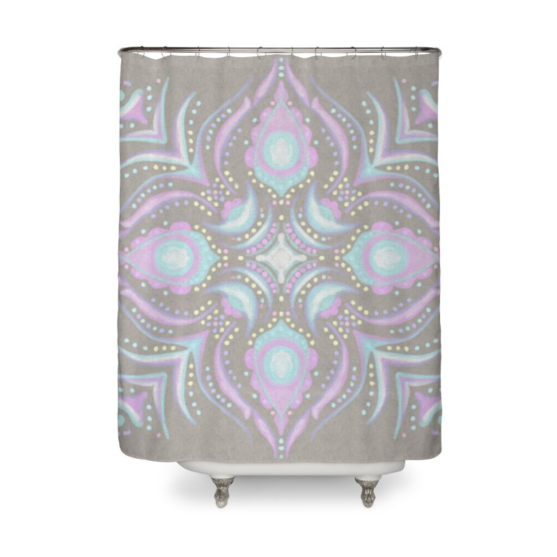 Street Mandala (Pastel)  in Shower Curtain by Alvestegui's Artist Shop