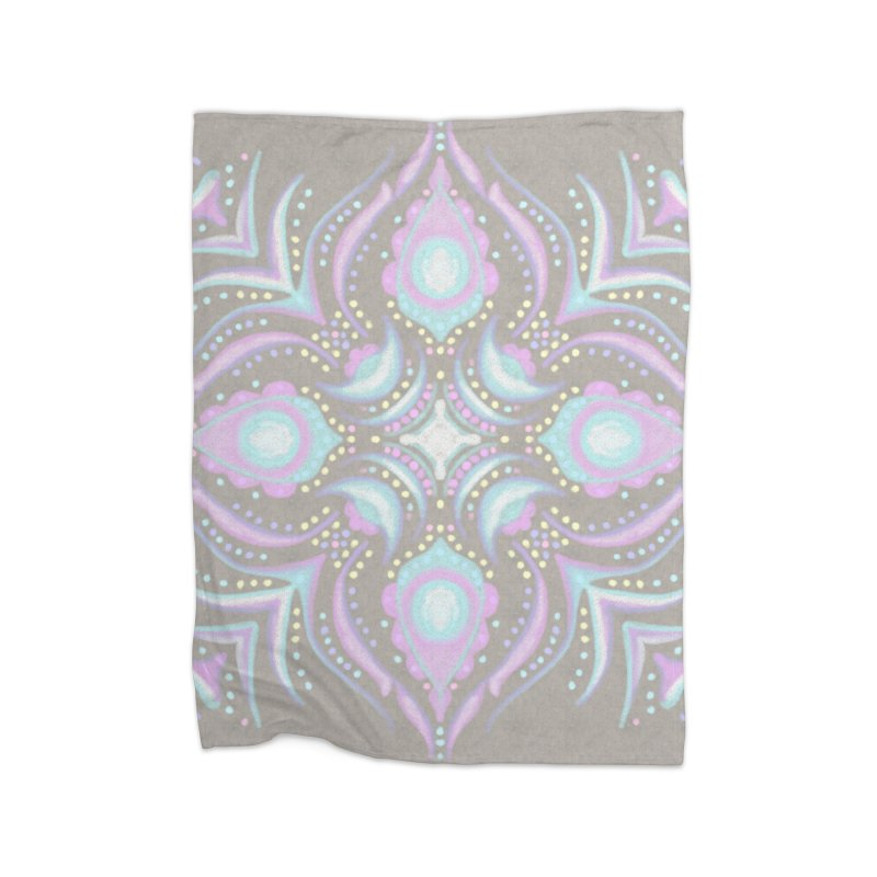 Street Mandala (Pastel)  in Fleece Blanket Blanket by Alvestegui's Artist Shop