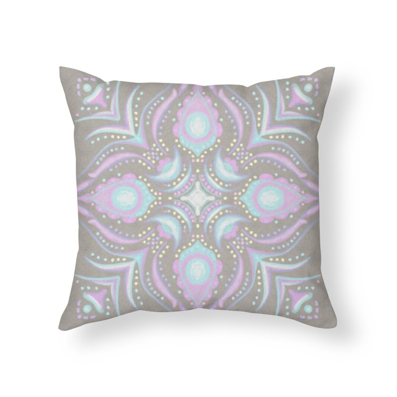 Street Mandala (Pastel)  Home Throw Pillow by Alvestegui's Artist Shop