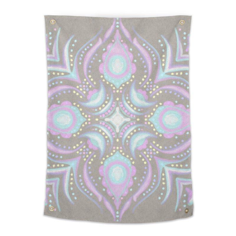 Street Mandala (Pastel)  Home Tapestry by Alvestegui's Artist Shop