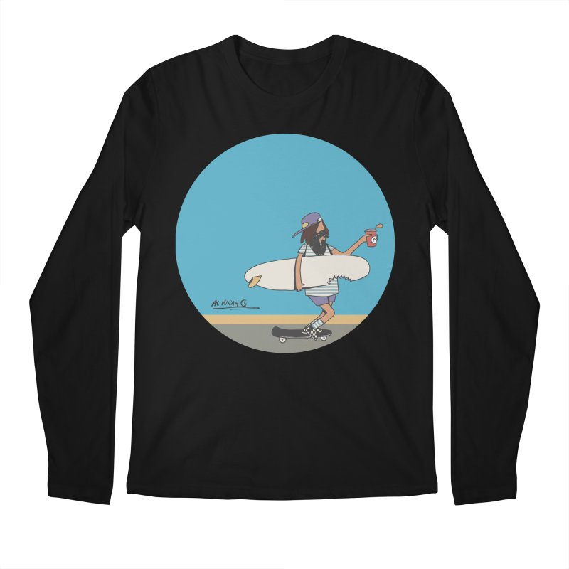 Shark Bite Men's Regular Longsleeve T-Shirt by Alwrath's Artist Shop