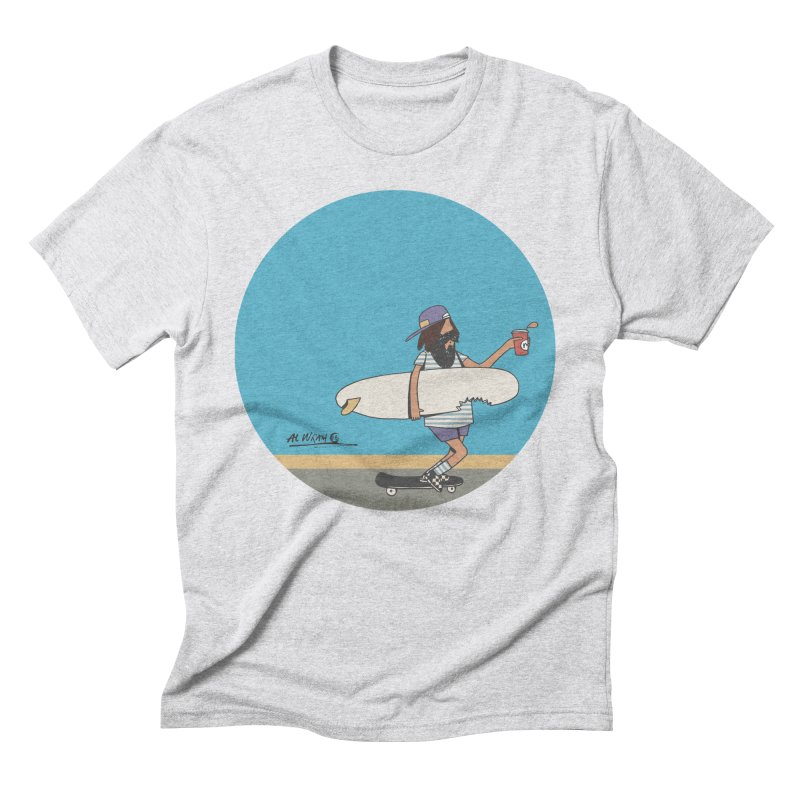 Shark Bite Men's Triblend T-Shirt by Alwrath's Artist Shop