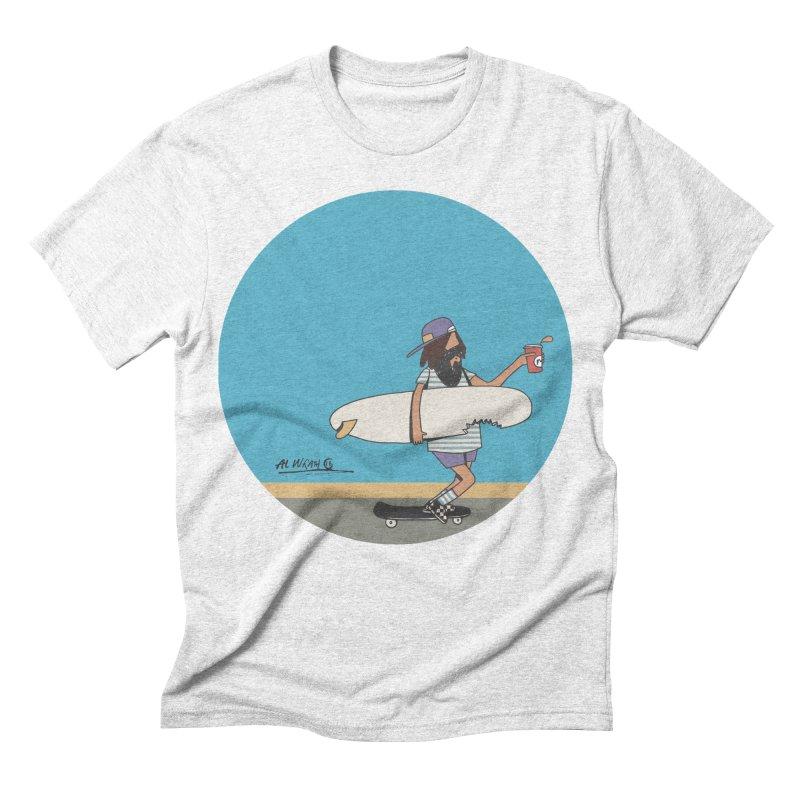 Shark Bite Men's Triblend T-shirt by Alwrath's Artist Shop