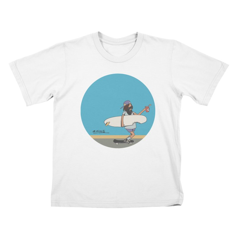 Shark Bite Kids T-Shirt by Alwrath's Artist Shop