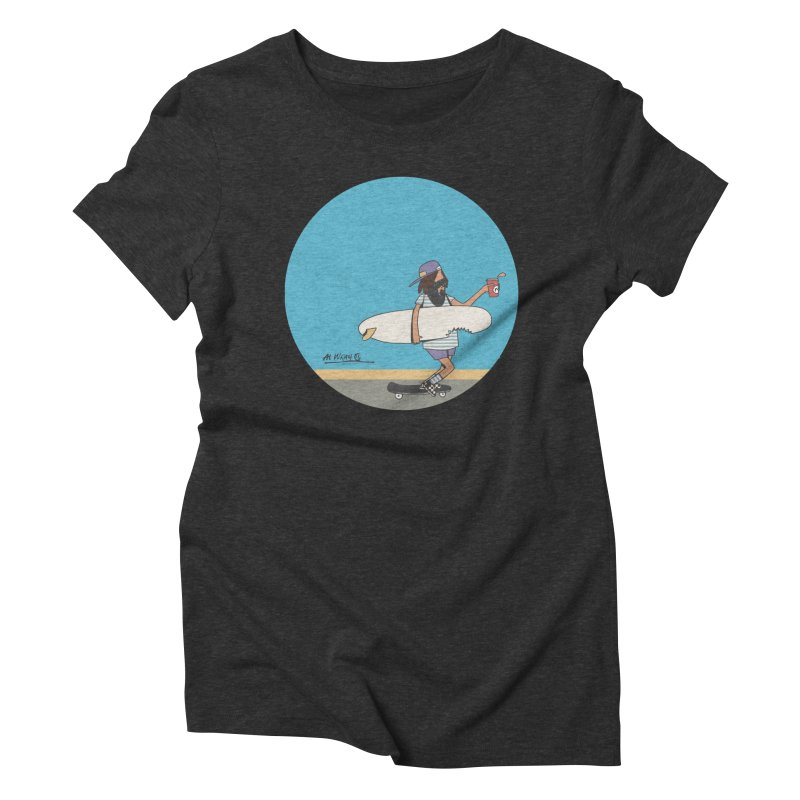 Shark Bite Women's Triblend T-Shirt by Alwrath's Artist Shop
