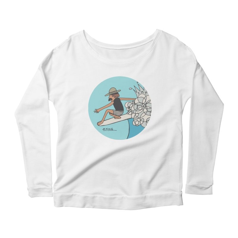 Hang Fivies Women's Longsleeve Scoopneck  by Alwrath's Artist Shop