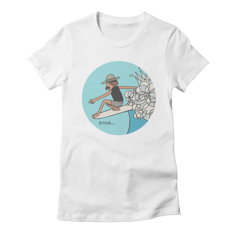 Hang Fivies Women's Fitted T-Shirt by Alwrath's Artist Shop