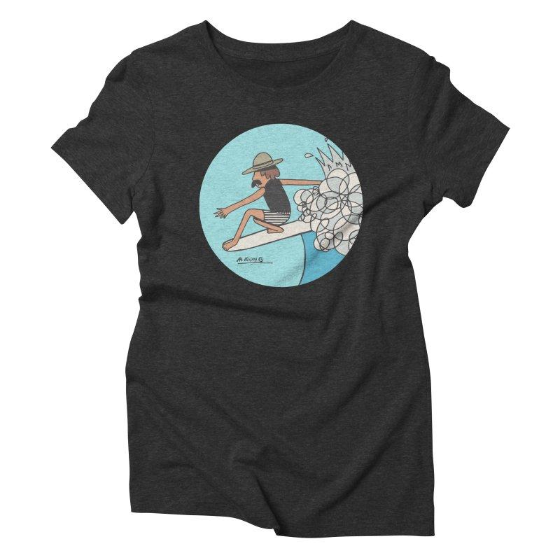 Hang Fivies Women's Triblend T-Shirt by Alwrath's Artist Shop