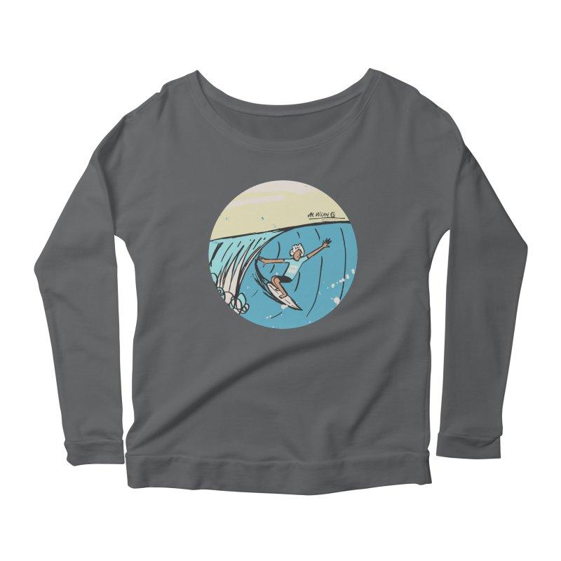 JJF Billabong Pro Tahiti Women's Scoop Neck Longsleeve T-Shirt by Alwrath's Artist Shop