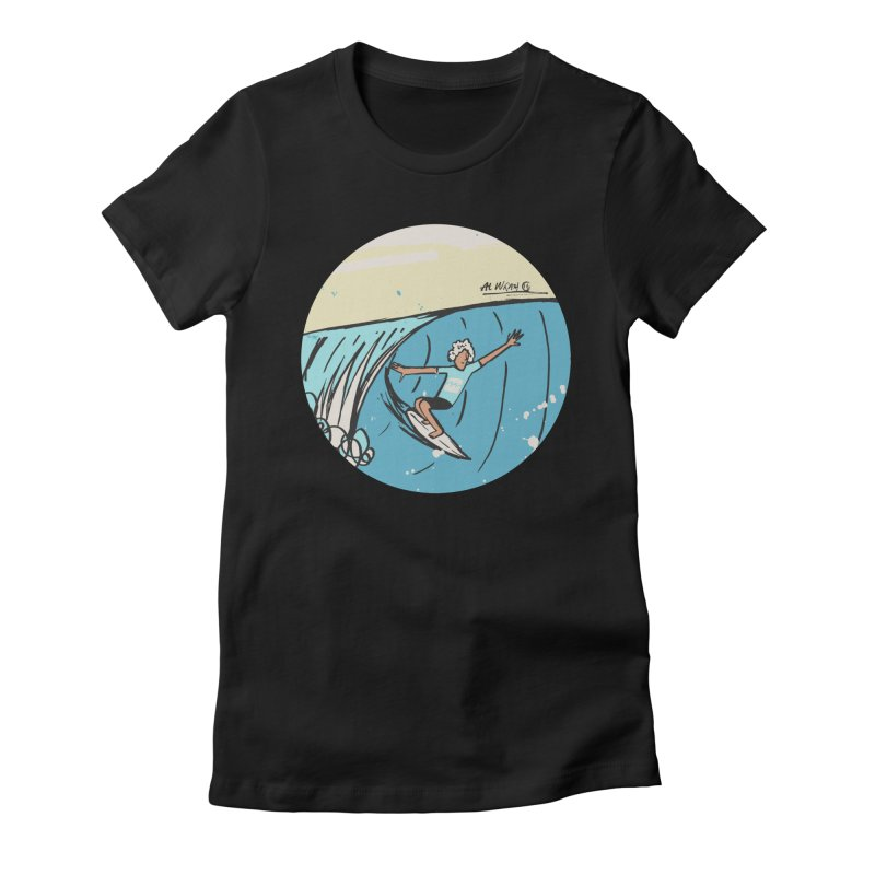 JJF Billabong Pro Tahiti Women's Fitted T-Shirt by Alwrath's Artist Shop