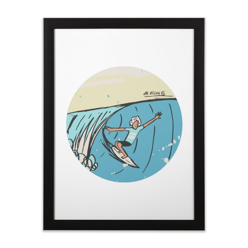 JJF Billabong Pro Tahiti Home Framed Fine Art Print by Alwrath's Artist Shop