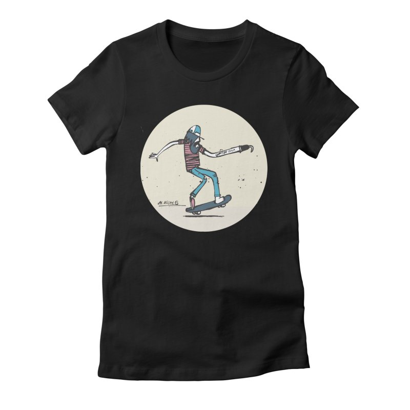 Hooky Women's Fitted T-Shirt by Alwrath's Artist Shop