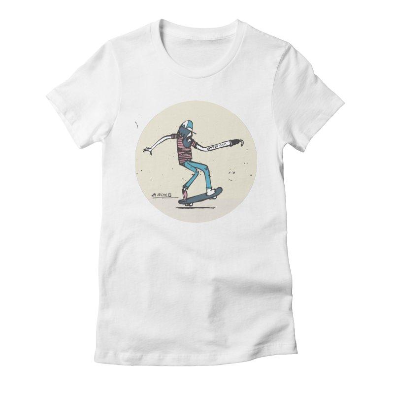 Hooky Women's Fitted T-Shirt by Alwrath's Artist Shop